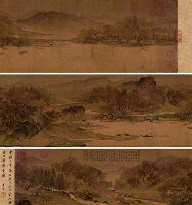 图三   五代惠崇《溪山春晓图》卷  故宫博物院藏