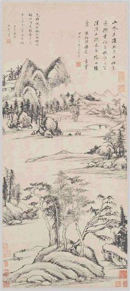 图六   明董其昌《林和靖诗意图》轴   故宫博物院藏