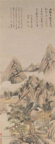 图九   明董其昌《建溪山水图》轴   美国耶鲁大学藏