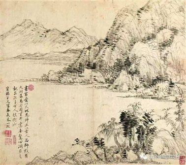图十七   清王翚《仿古山水》册之一  故宫博物院藏