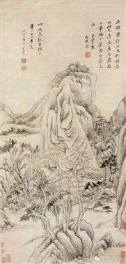 图二十二   明董其昌《石磴盘纡图》轴    上海博物馆藏