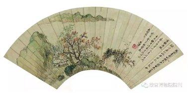 图二十五:2   清王翚《平岗枯木图》扇   故宫博物院藏