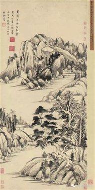 图二十七   明董其昌《 赠稼轩山水图》轴   故宫博物院藏