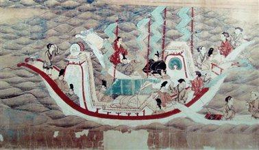 日本派赴中国的遣唐使回国